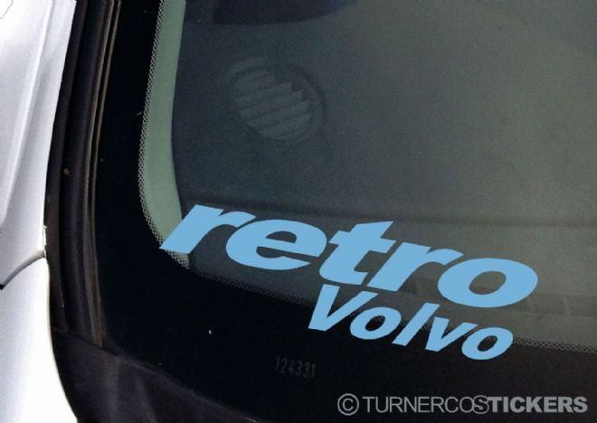 'Retro VOLVO' car sticker / Decal - To Fit Any Old School Volvo